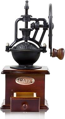 Vintage Style Manual Hand Coffee Bean Grinder Mill, Cast Iron Hand Crank, Ceramic Core, Adjustable Grinder, Make Fresh Coffee