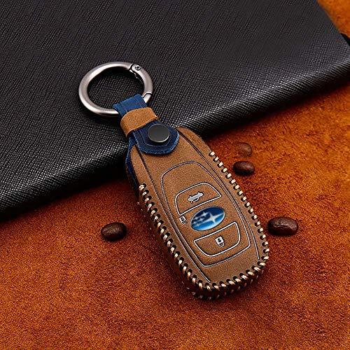 ontto Funda para llave de coche Subaru de cuero de primera calidad, protector para Subaru Impreza Fo