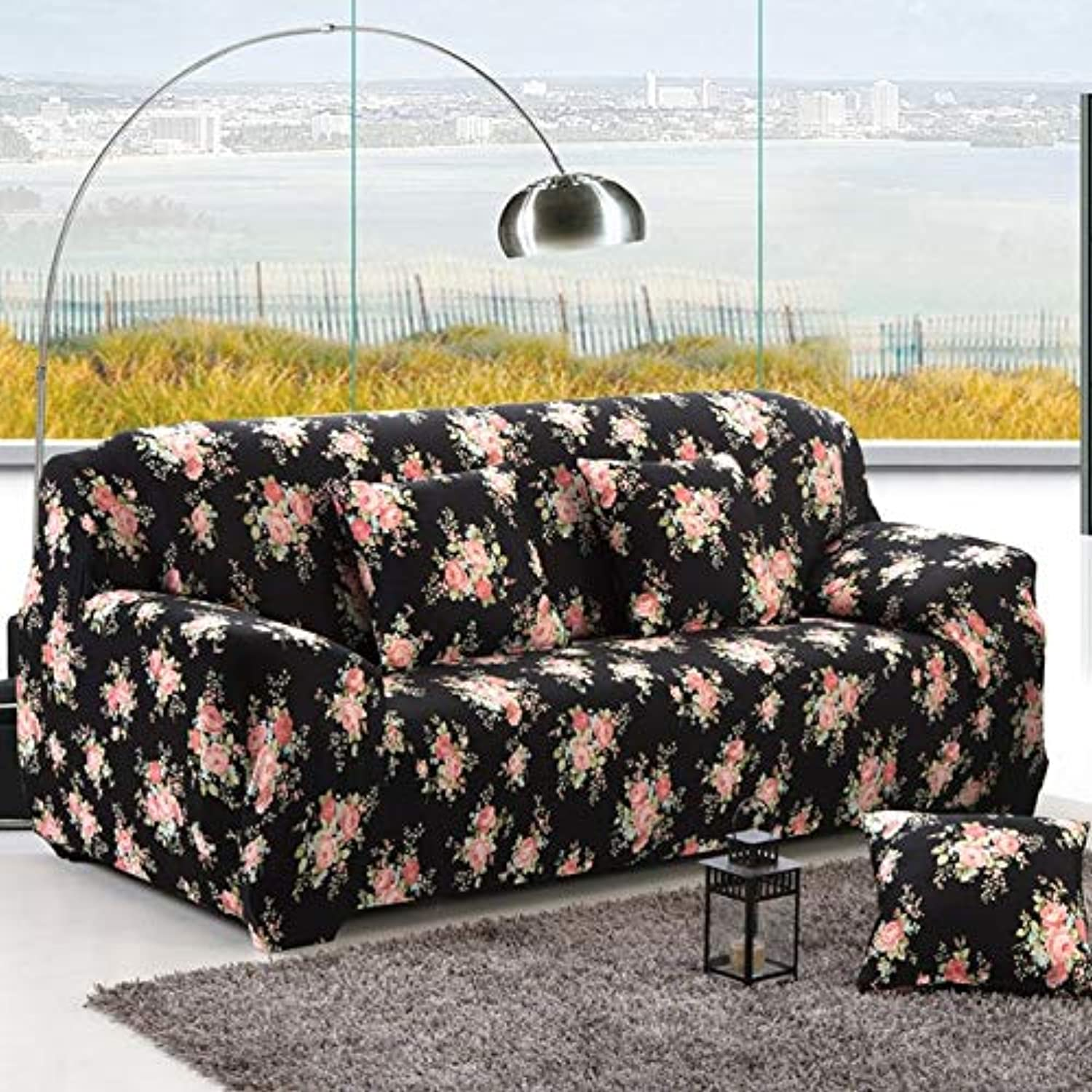 Hot Living Room Sofa Cover USA Style Slipcover Elastic Congreen Tight All-Inclusive 1 2 3 4-Seat Single Two Three Four-Seater   5, Two seat