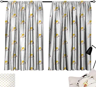 lace Curtains Angel,Cupid Pattern Amour Love Arrow Mythic Romance Kids Baby Angels Children,Peach Earth Yellow White 72