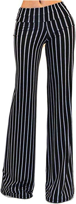 Can't be satisfied New Stripe Wide Leg Pants Women Streetwear High Waist Pants Long Female Trousers,As picture2,XXL