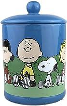 Silver Buffalo Peanuts Group Sitting Outside Large Canister Ceramic Cookie Jar, multicolor (PEA519EG)