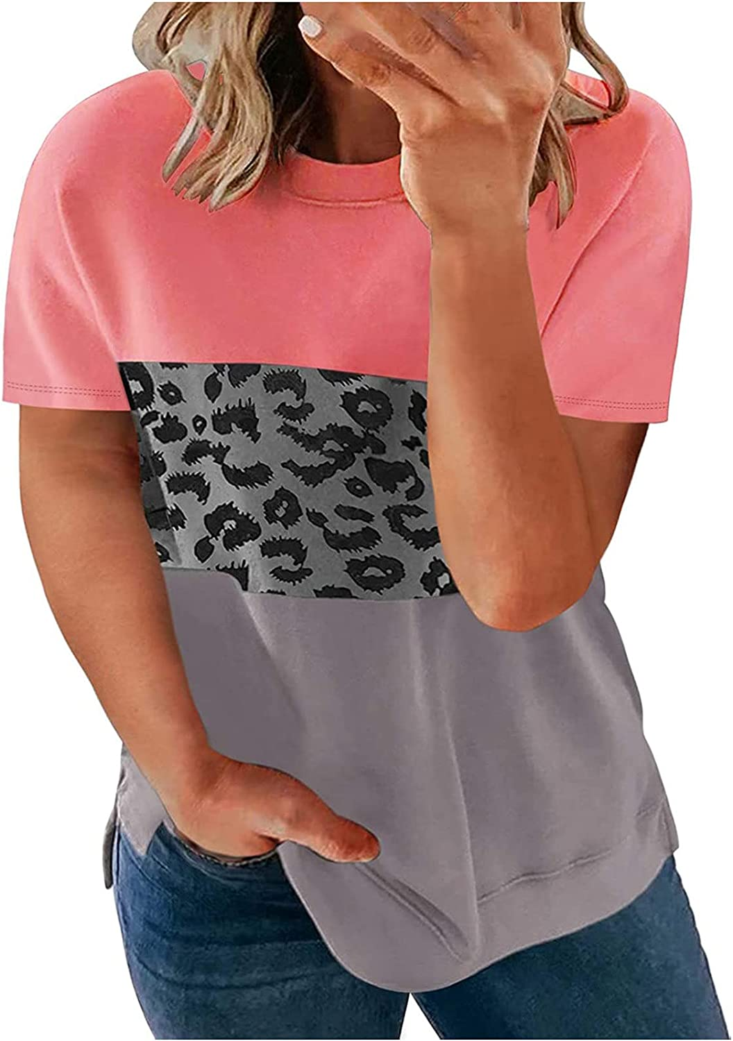 Summer Women Plus Size T-Shirts Casual Crewneck Loose Popular Fit F 2021 autumn and winter new Tops