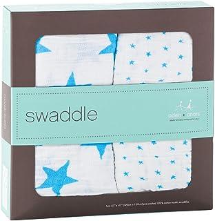 エイデンアンドアネイ おくるみ 2セット Aden+Anais swaddling wrap (08/FLURO-BLUE) [並行輸入品]