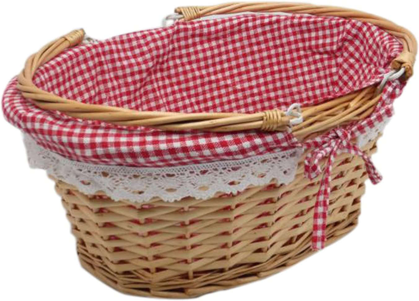 Picnic Basket Rattan New Free Shipping Woven Food Wicker Fruit Credence Bask