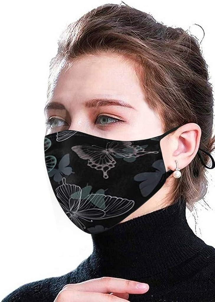 Lulupi 3d Schmetterling Mundschutz Multifunktionstuch Animal Print Maske Waschbar Wiederverwendbar Stoffmaske Baumwolle Mund Nasen Bedeckung Atmungsaktiv Tiermotiv Halstuch Schals Herren Damen Bekleidung