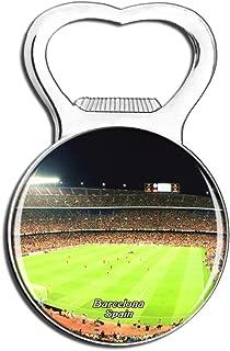 Weekino Spain Camp Nou Barcelona Fridge Magnet Bottle Opener Beer City Travel Souvenir Collection Strong Refrigerator Sticker