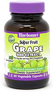 BlueBonnet Super Fruit Grape Seed Extract Supplement, 60 Count, White (743715008403)