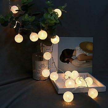 ELINKUME LED Lampion Lichterkette 20er Partylichterkette