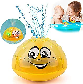 GRUSEMI Bath Toy, Spray Water Squirt Toy LED Light Up Float Toys Bathtub Shower Pool Bathroom Toy for Baby Toddler Infant Kid Water Electric Sprayer
