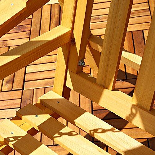 Melko Hollywoodschaukel Holz 188 x 161 x 88 cm Schwingliege Gartenschaukel Hängeschaukel Schaukelbank - 5