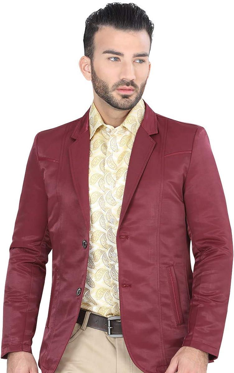El Señor de los Cielos Men's Casual Blazer Saco Casual Color Burgundy