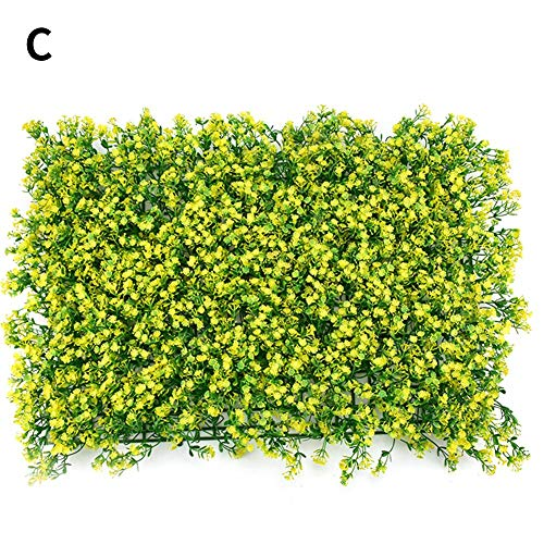 Artificial Hedges Screen Panels, Plastic Sunflower Lawn Rolls Plant Wall, Home Garden Outdoor Wall Decoration, 1 Pack