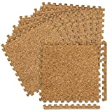 WEIMALL コルクマット ジョイントマット 30×30cm 厚さ0.8cm 36枚(約2畳用) サイドパーツ付き 防音