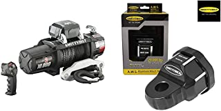 Smittybilt (98510 X2O Waterproof Synthetic Rope Winch - 10000 lb. Load Capacity + 2820 Aluminum Winch Shackle (A.W.S.) Universal Fit, 20k lb. Load Rating