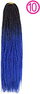 Synthetic Senegalese Twist Crochet Braids 24 inch Ombre Braiding Hair Extensions 100G/PC For Women,#12,24inches,5Pcs/Lot