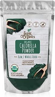 Super Organics Chlorella Powder | Rich in Vitamin A & B12 | Organic Superfood Powder | Raw Superfoods | Whole Food Supplem...
