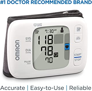 Omron Gold Blood Pressure Monitor, Portable Wireless Wrist Monitor, Digital Bluetooth..