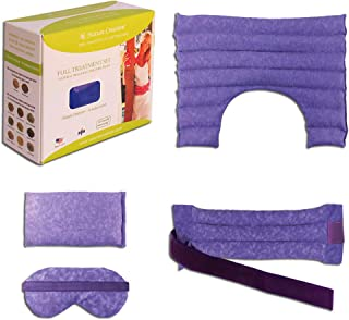 Nature Creation Full Treatment Set- Herbal Heating Pad/Cold Pack – Microwavable Hot and Cold Therapy for Neck, Shoulder, B...