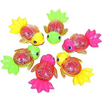 LEDMOMO 光る金魚 子供 光るおもちゃ 子供景品 縁日 クリスマス ハロウィン お祭り プレゼント 12個入り 色指定不可