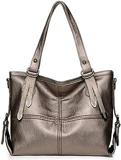 Shoulder Bag Hobos & Shoulder Bags Totes Female Bag Large-Capacity Female Bag Soft Leather Ladies Portable Slung Shoulder Bag Handbag Clutch (Color : Gold)