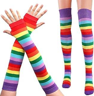 Jelinda/® Rainbow Arm Warmer Fingerless Gloves Stockings Sets