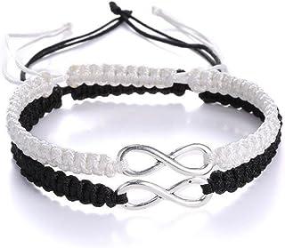 Kiokioa Couple Bracelets His and Hers 8 Infinity Bracelets Jewelry for Lover Girlfriends Wrist