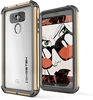 LG G6 Waterproof Case, Ghostek Atomic 3 Series for LG G6 Underwater Cover Slim Shockproof Shock Absorption Dustproof Aluminum Rubber Military Tested Heavy Duty Rugged Armor Swimming Immersible (Gold)