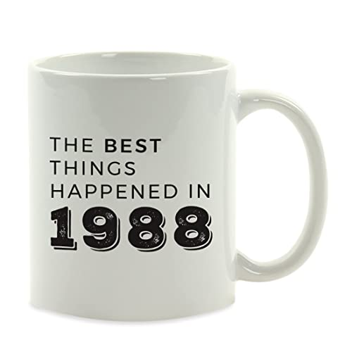 Birthday Milestone Coffee Mug Gift The Best Things Happened In 1988