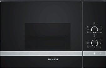 Siemens - Horno microondas con grill BE520LMR0 acabado cristal negro con acero inoxidable de 60 cm