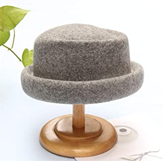 SHENTIANWEI and Winter hat Female Curling hat Jazz hat British Style Leisure Wild Retro Fashion hat (Color : Grey, Size : Adjustable)