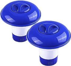 Cestbon Flotador de dosificación, dosificación Piscina de flotación, dispensador de Productos químicos para la Piscina, tabletas de Cloro,Azul