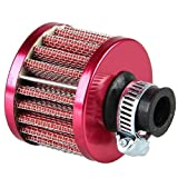 Mintice MAF08 Filtre Air Froid Reniflard Carter Turbo Ventilateur 12Mm Mini Rouge...
