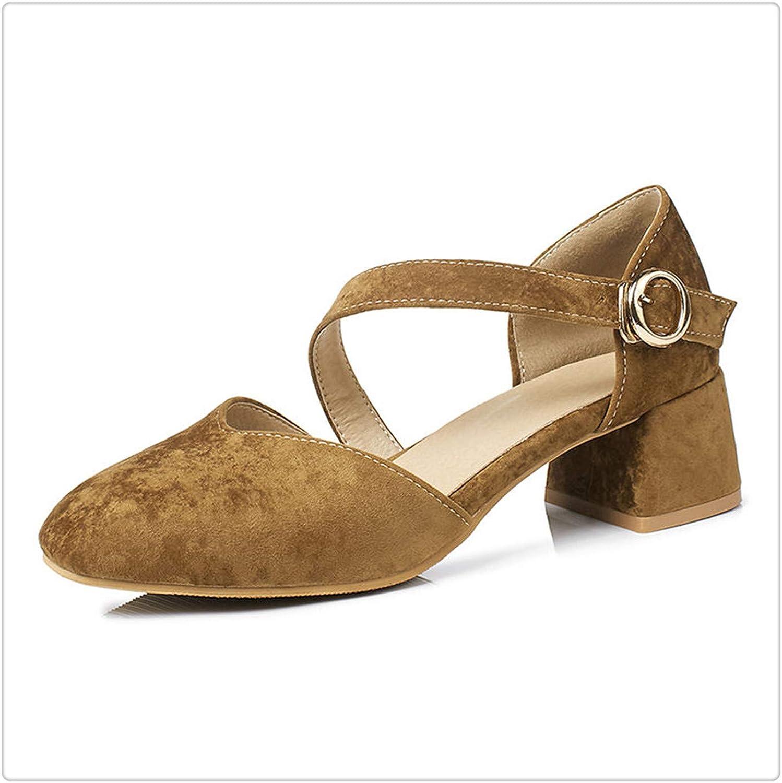 AAKOPE& 2018 Summer Elegant Mixed color Sandals Women Big Size 30-43 Casual shoes Woman Med Hoof Heels Women shoes Khaki 9