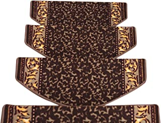 JIAJUAN Stair Carpet Treads Thicken Non-Slip Rubber Backing Rugs Stairs Mats, 4 Styles, 3 Sizes, Customizable (Color : C-1...