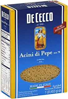 De Cecco Pasta Acini Di Pepe Pasta, 16 Ounces (Pack of 2)