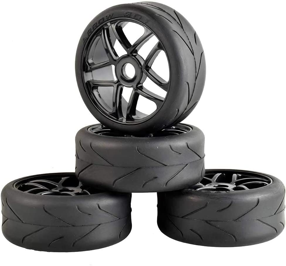 LAFEINA Sale special price 100mm Award-winning store RC On Road Tire and Sl Adapter Rim Set 17mm Wheel