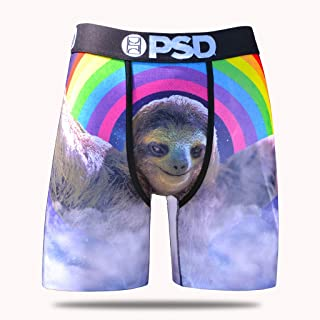 PSD Mens Sloth Rainbow Athletic Boxer Briefs