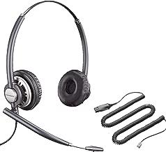 Avaya Compatible Plantronics VoIP Ultra Noise Canceling HW720 (HW301N) DUO Headset Bundle | Avaya 1600 and 9600 IP Phones: 1608, 1616, 9601, 9608, 9610, 9611, 9611G, 9620, 9620C, 9620L, 9621, 9630, 9640, 9640G, 9641, 9650, 9650C, 9670
