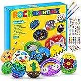 Hotikin Bastelset Kinder 5 6 7 8 9 10 Jahre Mädchen, Steine Bemalen Set Spielzeug ab 4-12 Jahre Mädchen Geschenke 4-12 Jahre Kinder Mädchen