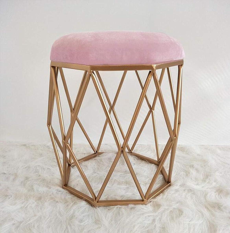 腫瘍パッド比較FU CHAIR 女性のドレッサースツール、モダンなカジュアルラウンドゴールドベッドルームソファースツール化粧椅子