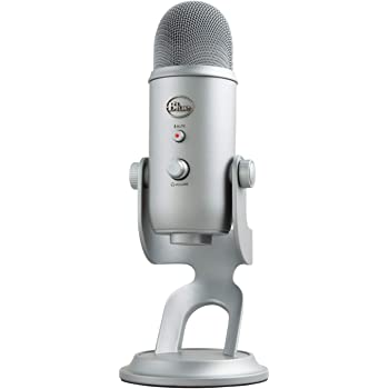 Blue Yeti USB Mic for Recording & Streaming on PC and Mac, 3 Condenser Capsules, 4 Pickup Patterns, Headphone Output and Volume Control, Mic Gain Control, Adjustable Stand, Plug & Play - Space Gray
