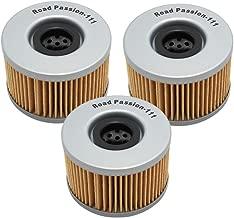 Road Passion High Performance Oil Filter for HONDA TRX400/TRX500/TRX650/TRX680/CM450/CMX450/CX500/GL500/GL650(pack of 3)