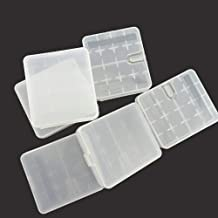 Honbay Battery Storage Case/Box/Organizer/Holder for 4 18650 Batteries or 8 CR123A Battery, Pack of 6 (White)