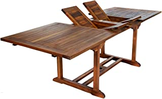teak extension table outdoor