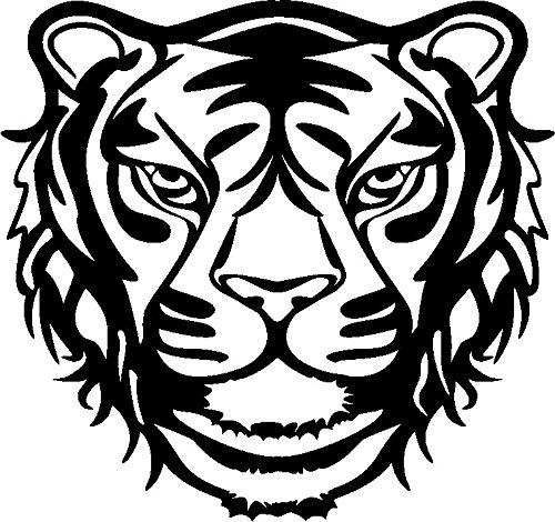Marabu 0289000000007 - Silhouette Schablone, Ergebnisse mit Negativ - Effekt, PVC frei, wieder verwendbar, zum Sprühen und Spachteln mit Textil- und Acrylfarbe, ca. 30 x 30 cm, Wild Tiger