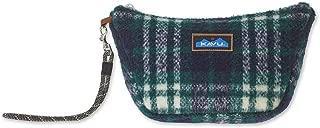 KAVU Tabernash Plaid Accessory Pouch Furry Clutch Purse, One Size