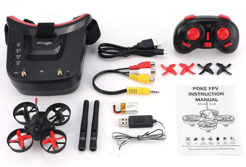 disfrutando de sus compras WOSOSYEYO 5.8G 40CH FPV Cámara Mini Mini Mini RC Racing Drone Quadcopter con 3in Gafas para Auriculares  hermoso
