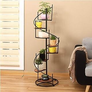HTTSC Rotate Ladder 8 Tier Flower/Plant Racks/Shelf Iron Metal Standing Shelf for 8 Plant Flower Pots Holder Shelves Stand...