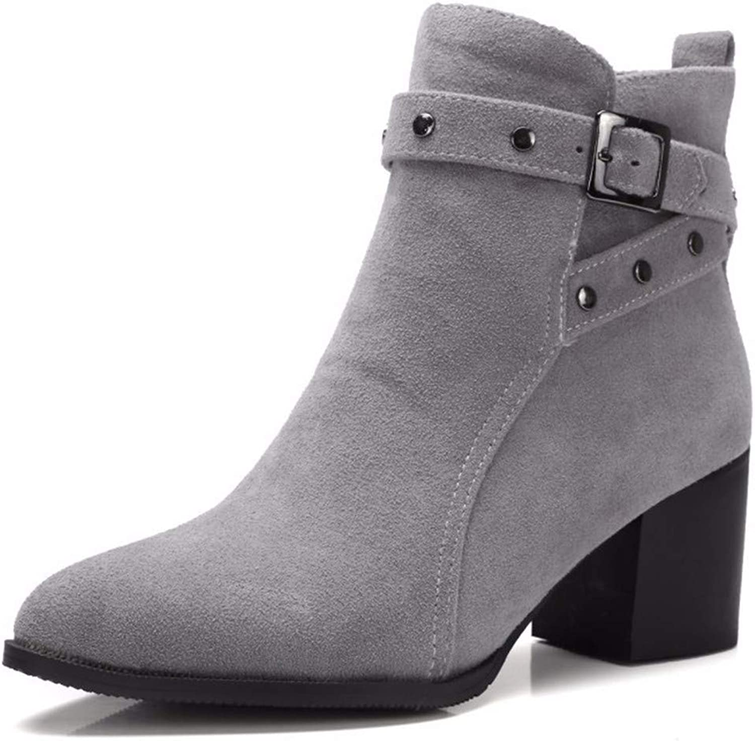 Autumn and Winter high Heels Boots Fashion Boots Size